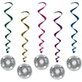 Beistle 57610, 5 Piece Printed Disco Ball Whirls, 38""