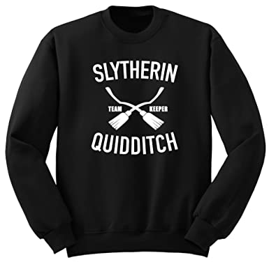 Slytherin Quidditch/Harry Potter/Sudadera / SW75 (M, Negro)