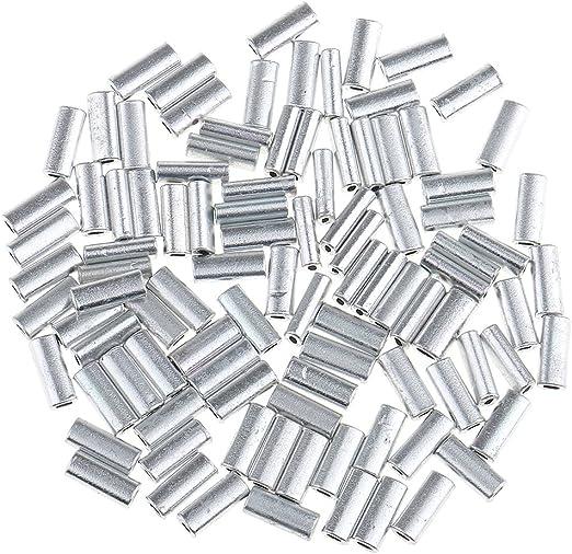 200 Stück Angeln Zubehör Klemmhülsen korrosionsbeständig
