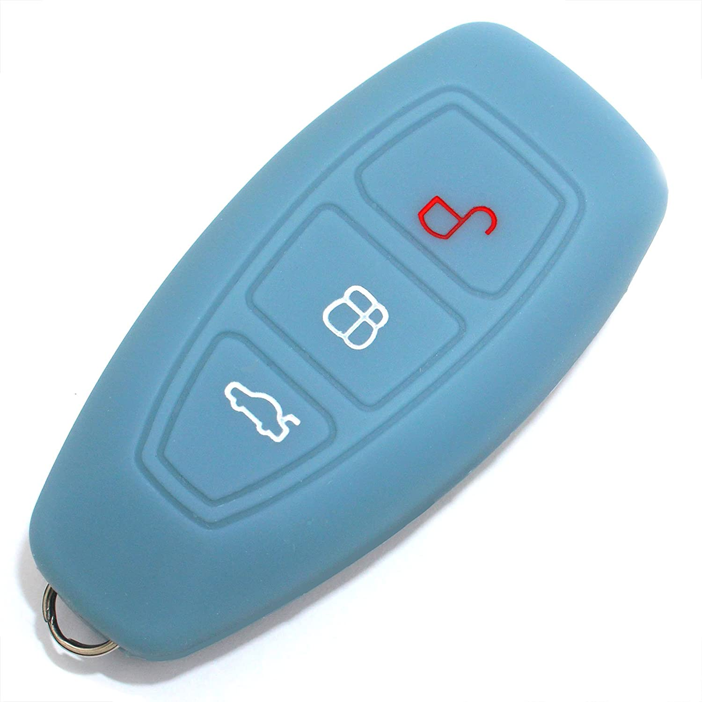 Caso Chiave in Silicone Cover per 3 Bottoni Auto Copertura di Protezione Keycase FD Noctilucente