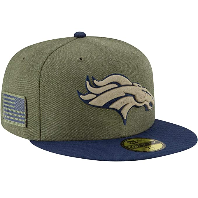 f4f005e2 New Era Denver Broncos 2018 Salute to Service 59FIFTY On Field Fitted Hat