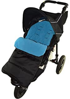 Footmuff Cosy Toes Compatible with  Mountain Buugy Mini Pushchair Black Jack