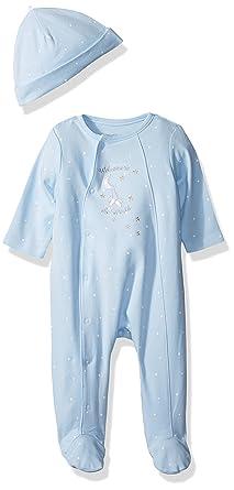 e3fa5c42b Amazon.com  Little Me Boys  2-Piece Footie   Cap Set  Clothing