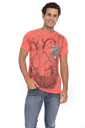 b0ef8e9fd Camo Wild Life Hunting Game Soft T-Shirt Tee Printed Pocket Unisex Mens -  Orange