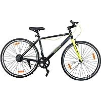 Atlas Ultimate City Karbon 700C Single Speed Bike for Adults Black & Green