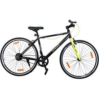 Atlas Ultimate City Karbon 700C Single Speed Bike for Adults Black   Green Cycles