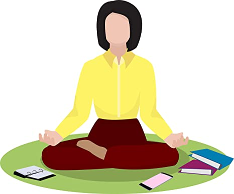 Amazon Com Simple Yoga Studio Pose Peaceful Meditation Unwind Cartoon Vinyl Sticker 4 Wide Businesswoman Automotive