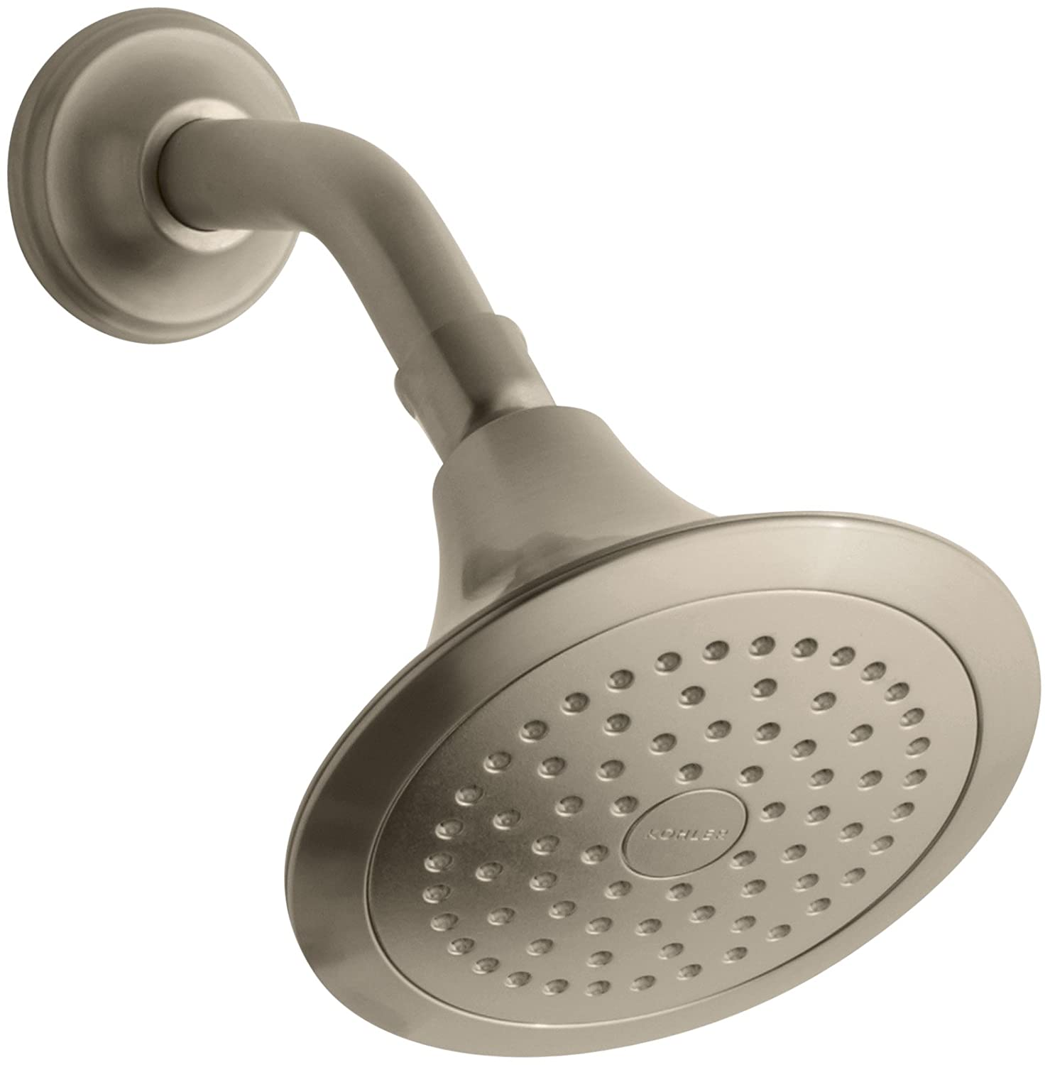 Kohler K-10282-AK-G Forté Single-Function Katalyst Showerhead, Brushed Chrome