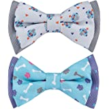 Blueberry Pet 9 Patterns Bandana/Tie Dog Collars or 3 Patterns Handmade Bowtie Sets in Gift Box