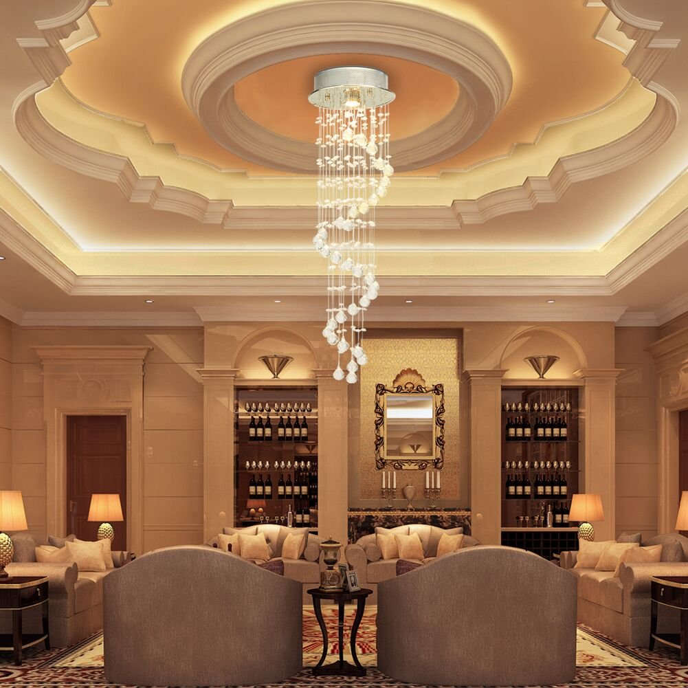 Colour:G9 CCLIFE Modern Elegant Crystal Chandelier LED Ceiling Light Fixture