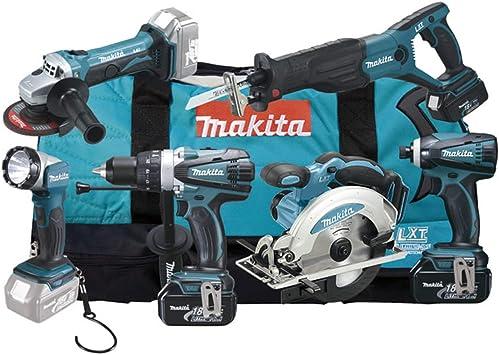 Makita DLX6011 - Batería de ion de litio (18 V, 3 Ah, 11 piezas ...