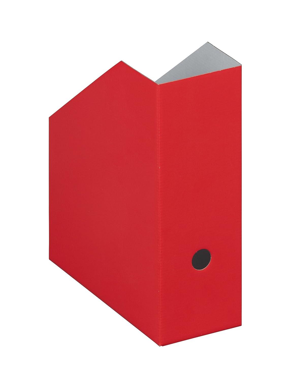 NIPS 112167103 Uni Colour Zeitschriftenbox, 10.5 x 26.5 x 31.5 cm, 5er Packung, rot NIPS Ordnungssysteme GmbH