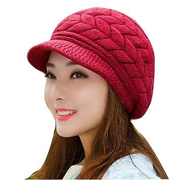5d355324cba Gome-z Soft Winter Beanies Knit Women s Hat Winter Hats For Women Ladies  Beanie Girls
