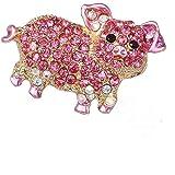 素敵な ピンク クリスタル 子豚 モデリング ブローチ さん 洋服 バックパック アクセサリー 丈夫