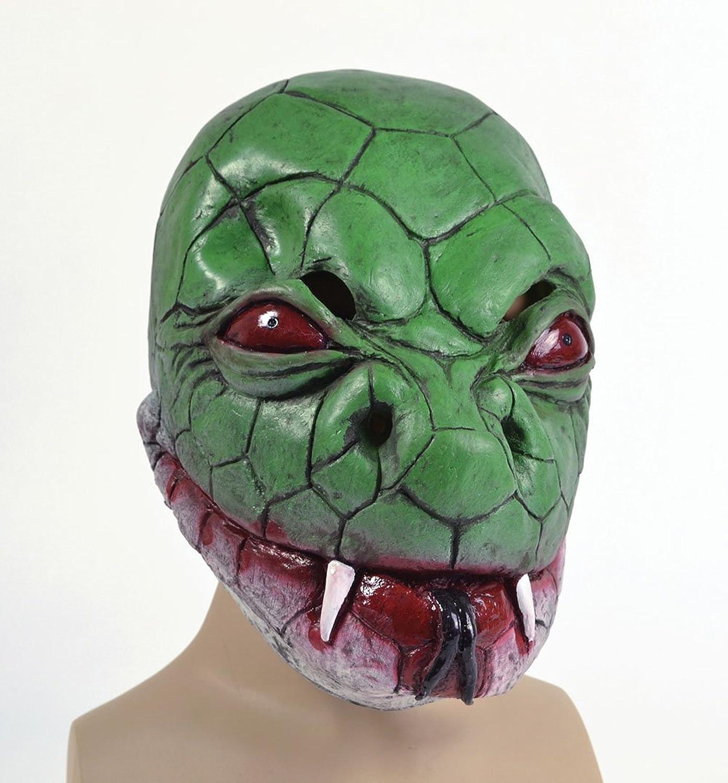 Snake Cobra Full Head Latex Mask Fancy Dress Reptile Halloween ...