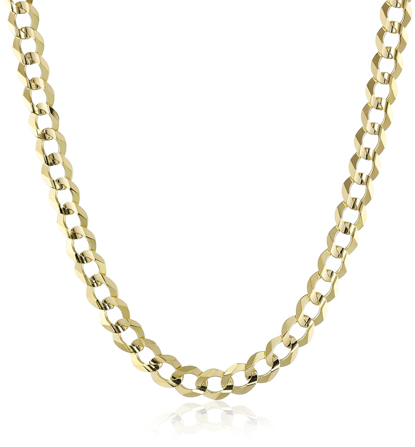 solid curb chain jewellery carat jewellers online gold hallmark yellow