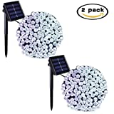Amazon Price History for:Binval Solar String Lights 2-Pack 72ft 22m 200 LED 8 Modes Fairy String Lights for Outdoor, Gardens, Homes, Wedding, Waterproof (White)