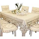 Vintage Cotton Linen Rectangular Tablecloth Kitchen