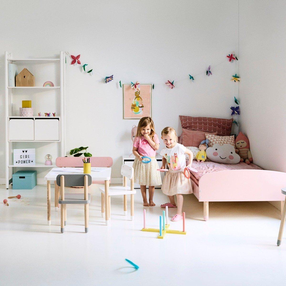 Table enfant Flexa Play carr/ée blanc