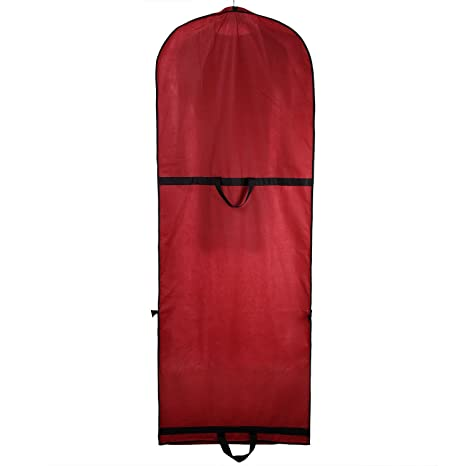 TUKA Transpirable Funda de ropa, 180 cm x 65 cm Bolsa de Ropa Protector para vestidos de novia o de fiesta, trajes, abrigos. 2 accesorios bolsillos, ...