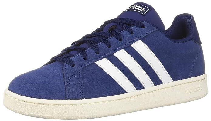 adidas Grand Court Sneakers (Tennisschuhe) Damen Herren Unisex dunkelblau mit weißen Streifen