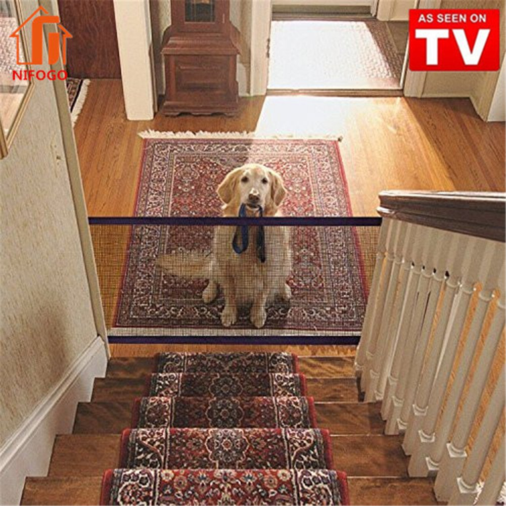Nifogo Magic Gate Schutzgitter Haustiere, Hund Safe Guard, Portable Folding Safe Guard Innen und Außenschutz Sicherheitstor Long Fu Group
