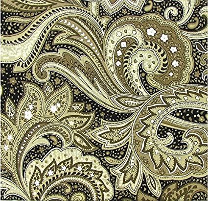 Black and Khaki Paisley Penn Seed Seed Guard and Catcher Bird Cage Skirt