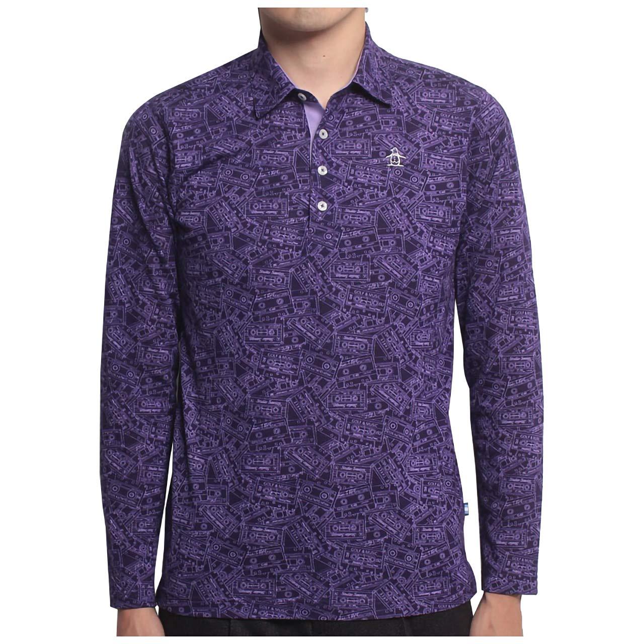 マンシングウェア(Munsingwear) 長袖総柄プリントシャツ JWMK130 B07H25X89T  パープル(P237) Medium