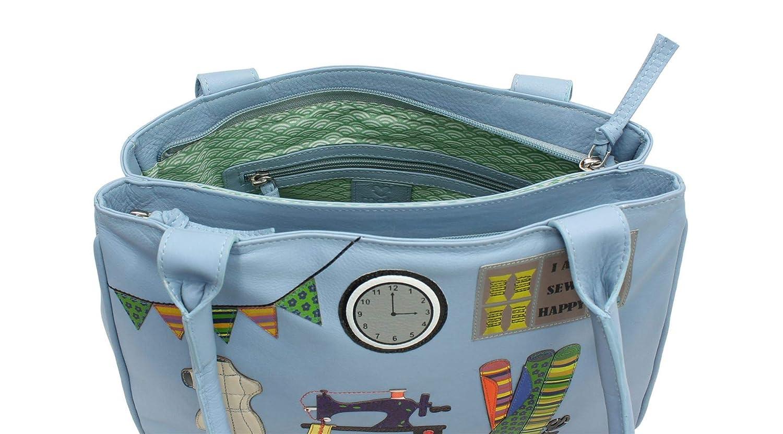 Mala läder sömnad strumpa kollektion läder axelväska 7149_22 himmelsblå Himmelsblå