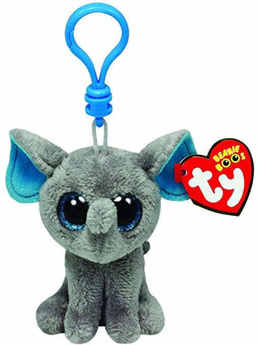 9b3bcbb2590 Amazon.com  Ty Beanie Boos - Peanut-Clip the Elephant  Toys   Games