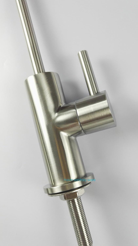 Havin SUS304 acero inoxidable potable purificador de agua de grifo cepillado n/íquel grifo grifo de /ósmosis inversa