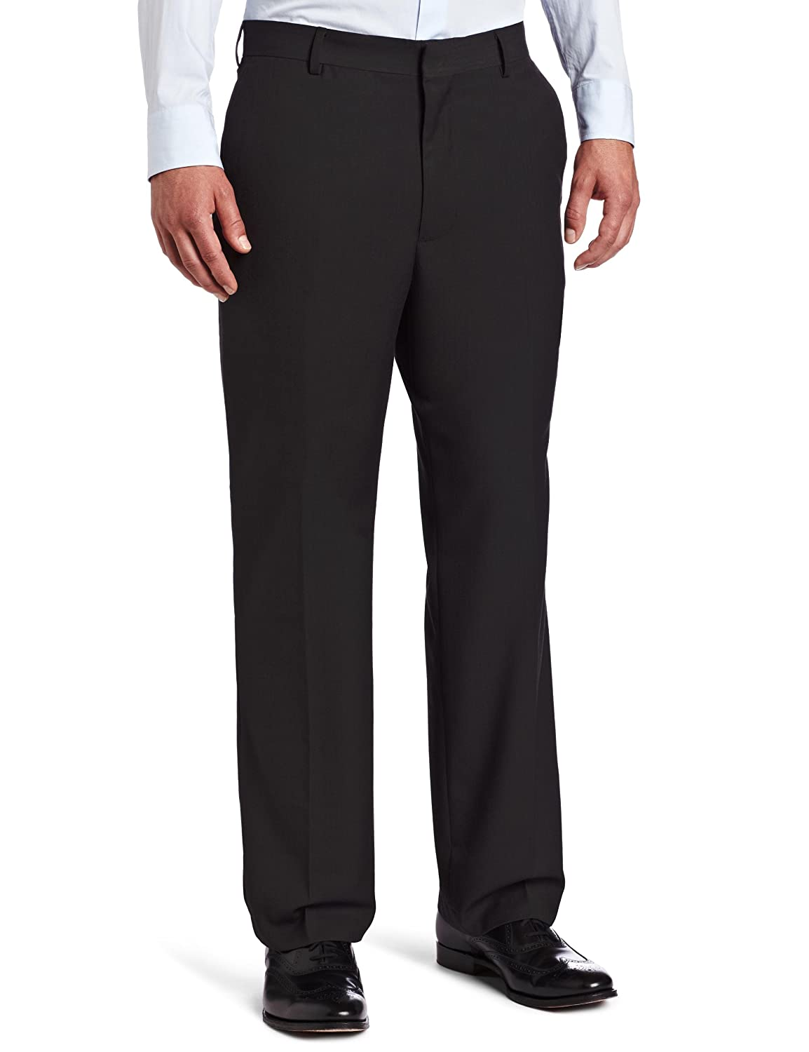 44W x 30L Coal Arrow Mens Herringbone Flat Front Pant
