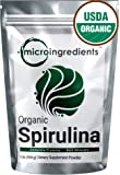 Micro Ingredients USDA Organic Spirulina Powder, 1 Pound, Best Superfood Rich Vitamins & Minerals, Non-Irradiated, Non-Contaminated