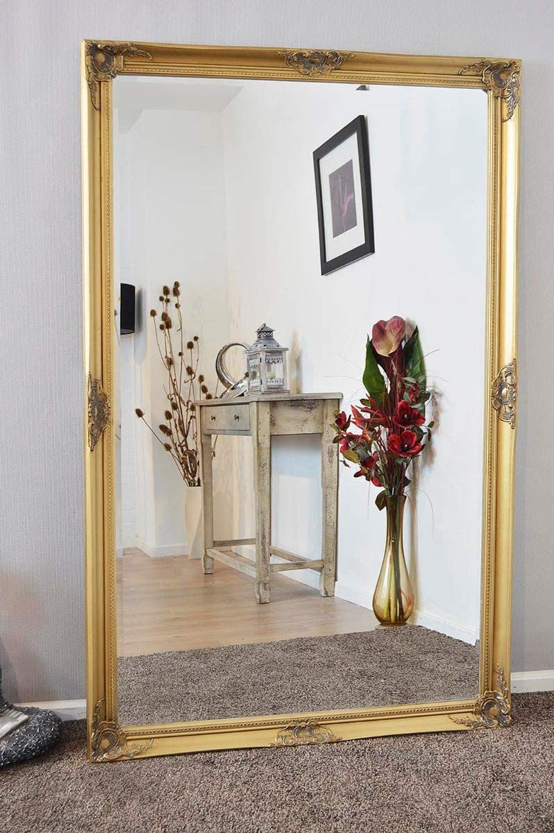 Shop MirrorOutlet X Large Gold Antique Bevelled Dressing Wall Mirror from Amazon on Openhaus