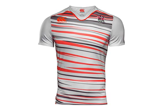ee63a87eb70 England 7s 2017/18 Home Pro S/S Rugby Shirt - Bright White: Amazon ...