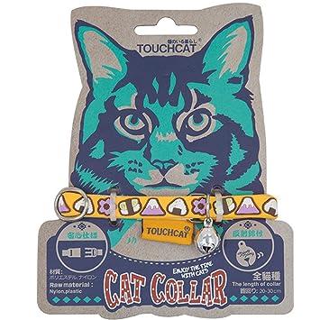 Treat Me Me Me Collar con Campanas Gato Ajustable Cascabel para Collar de Mascotas Protección para Gato Pequeño y Mediano 20-30cm
