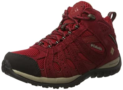 Columbia Redmond Mid Waterproof, Chaussures de Randonnée Hautes Femme, Rouge (Red Velvet/Oxford Tan), 37.5 EU