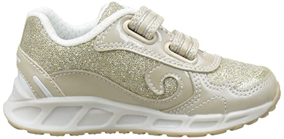 Geox Shuttle B, Sneakers Basses Fille, Argent (Silver/whitec0434), 35 EU