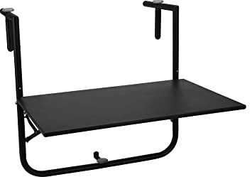 Relaxdays Table De Balcon Pliante Pliable Appoint Table Suspendue