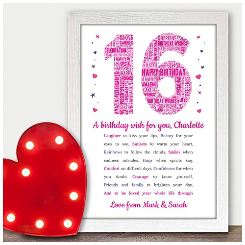 Personalised 13th 16th 18th 21st 30th Birthday Gifts For Her Girls Daughter Sister Him Son Boys Brother Mum Dad Nanny Grandad Best Friends 40th 50th 60th