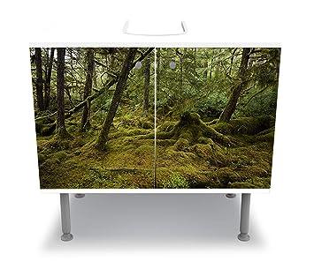 hermosas fotos de diseño de baño Wandmotiv24 Badunterschrank Hermosa Selva Tropical Diseo