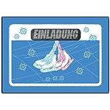 Elegant Einladungskarten Einladung Schlittschuh Eislaufen (8 Stück)