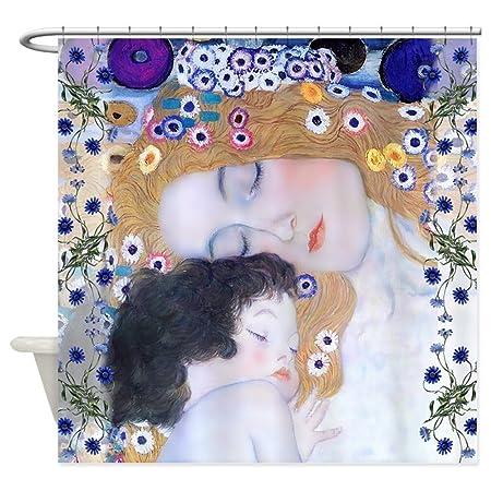 CHATAE Klimt Mother Child Art Deco Shower Curtain