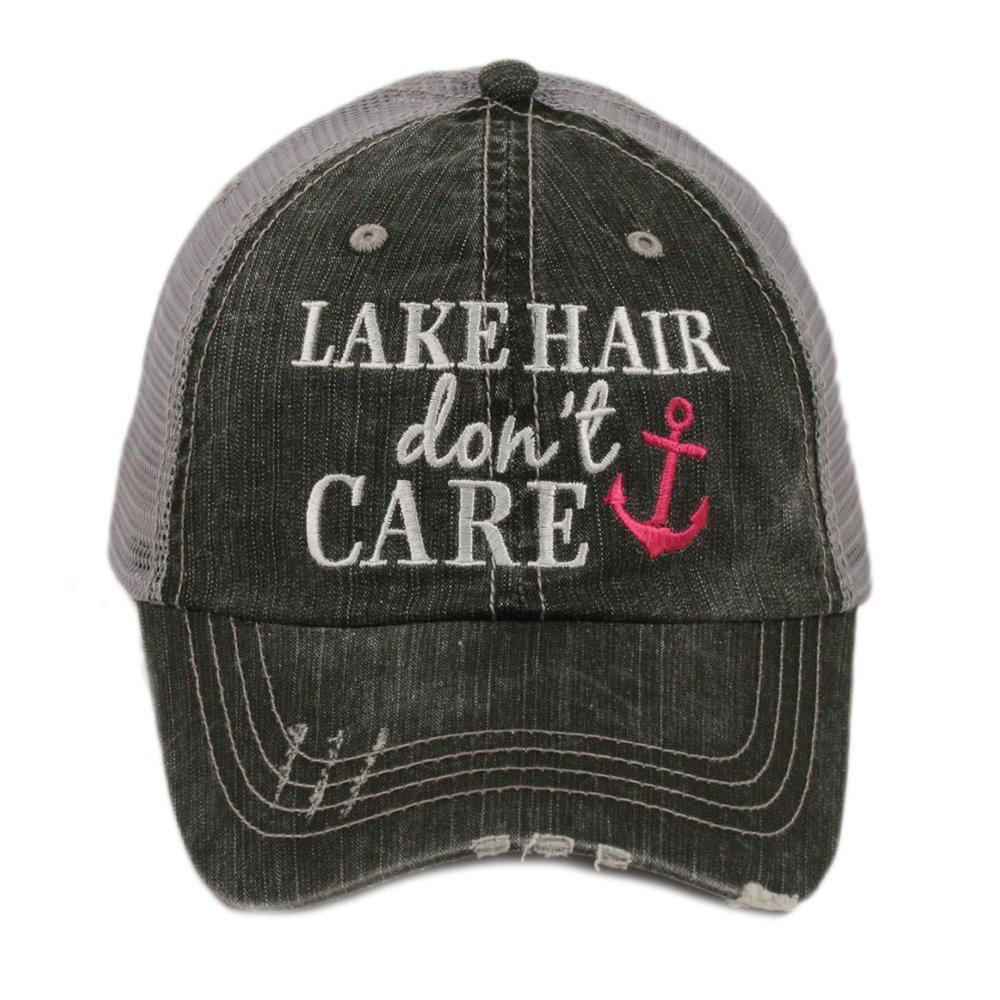 Katydid Lake Hair Dont Care Womens Trucker Hat Cap