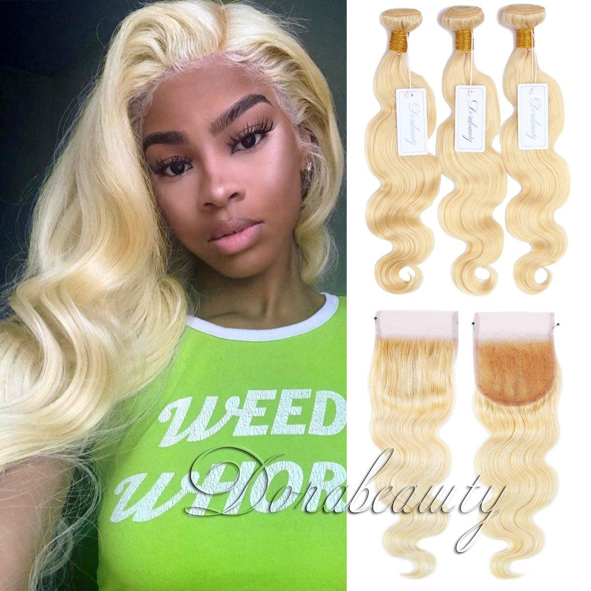 Amazon Dorabeauty 613 Blonde Human Hair Bundles With Closure