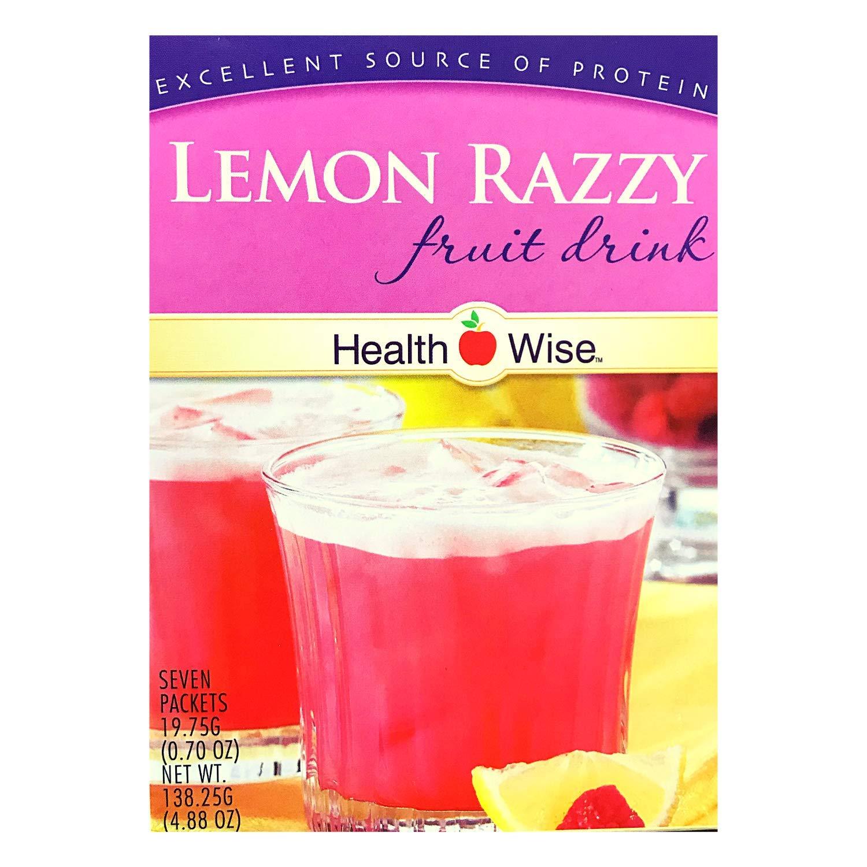 HealthWise Lemon Razzy Fruit Drink, (7 packets of 0.694 oz., net 4.856 oz.)