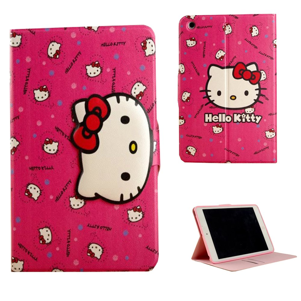 Sotefe® Cover iPad Pro 9.7 Case Lovely Hello Kitty With Magnetic Button - Mignonne Hello Kitty Housse Étui Pour Apple iPad Pro 9.7'' Pochette de protection Avec bouton Magnétique Coque Smart Shell Support Protector