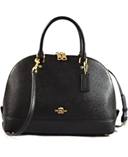 854a8416380b Coach Sierra Satchel Patent Crossgrain Leather  Handbags  Amazon.com