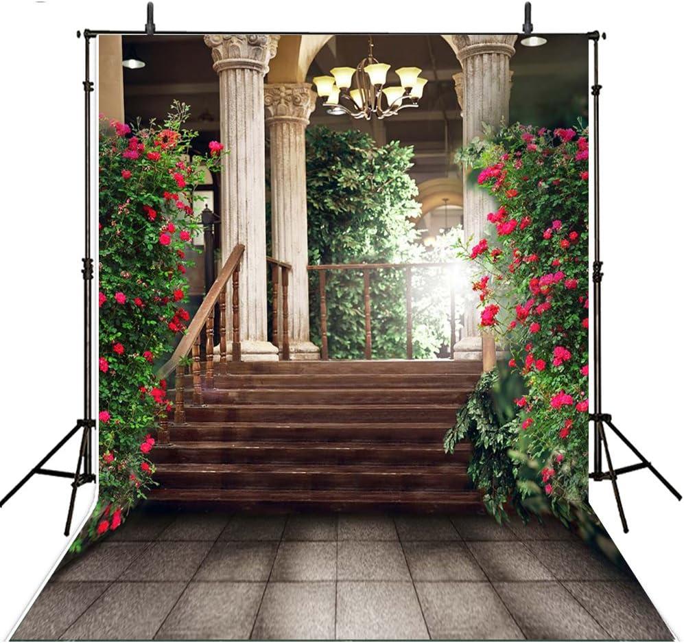 Boda fondos para fondos de fotografía 8 feet-8feet foto fondo jardín escalera selvático fotográfico fondos: Amazon.es: Electrónica