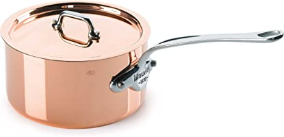 Mauviel Made In France M'Heritage Copper M150S 6110.21 3.6-Quart Saucepan with Lid, Cast Stainless Steel Handles.